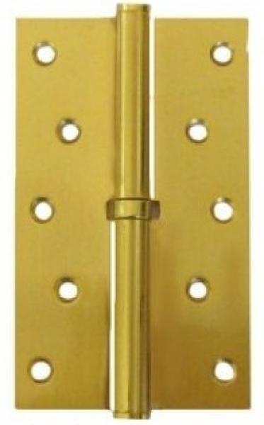Разъемная петля дверная на межкомнатную дверь 125 полированное золото