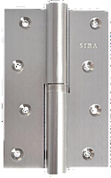 Разъемная усиленная петля 120B матовый никель правая/левая