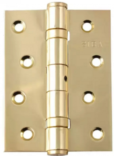 Универсальная петля дверная усиленная 125 полированное золото