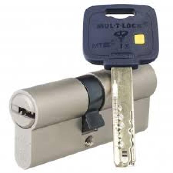 Цилиндр Mul-T-Lock MT5+ корпус матовый никель 27*35