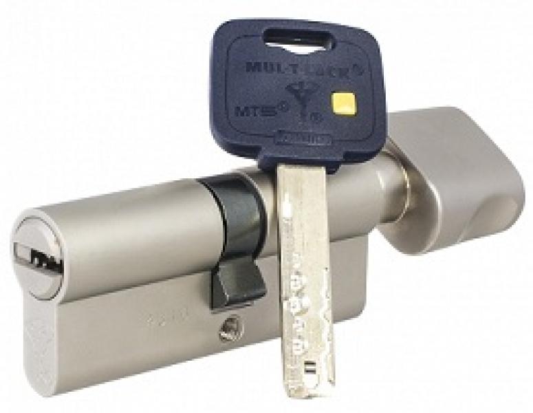 Цилиндр Mul-T-Lock MT5+ корпус матовый никель 27*35-Т