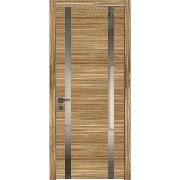 Двери межкомнатные Glass 01 зебрано