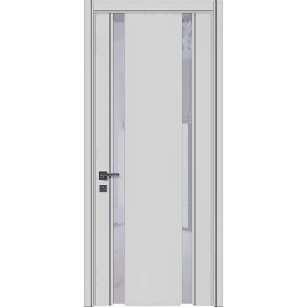 Двери межкомнатные Glass plus 01 RAL 7047