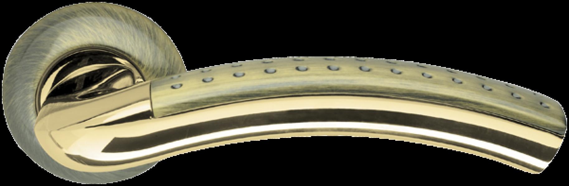 Ручка дверная Libra бронза/полированное золото