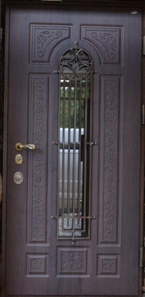 Входные двери Винорит ковка в уличном исполнении