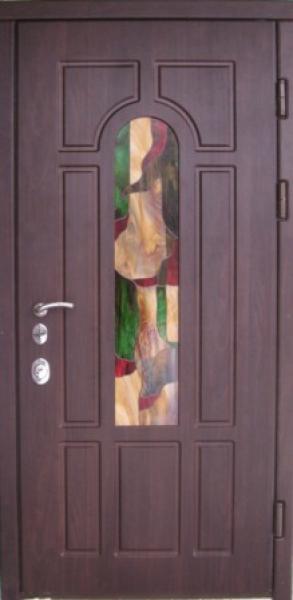 Входные двери Винорит витраж