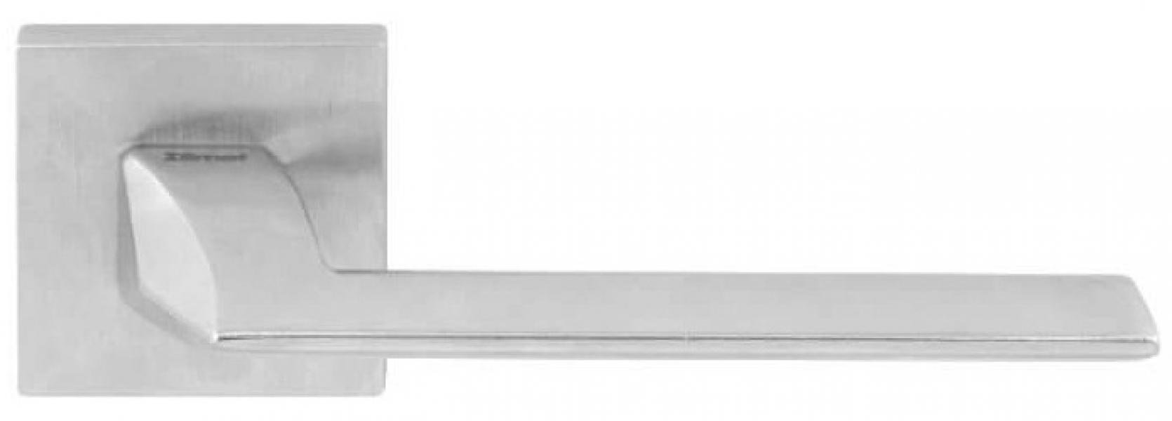 Ручка дверная на розетке Pura H5 матовый хром