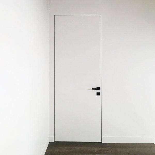Двери окрашенные в цвета по каталогу RAL/NCS скрытый монтаж WakeWood