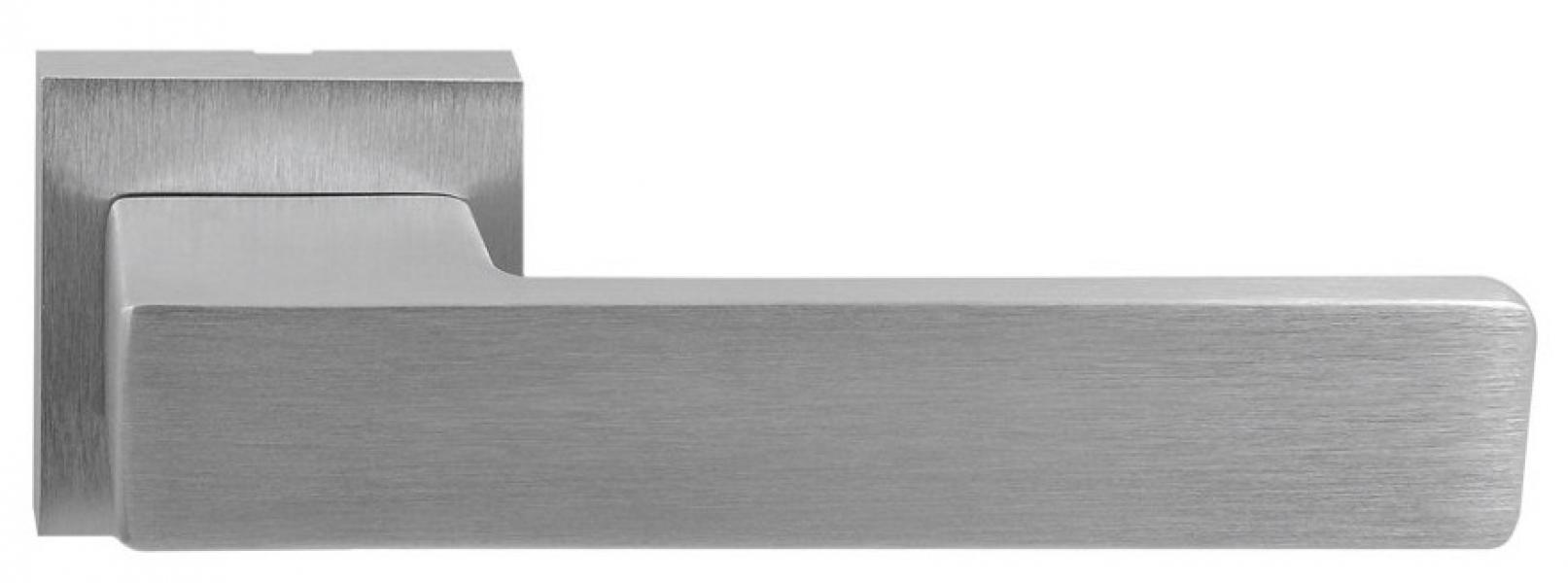 Ручка дверная на розетке Prima матовый хром
