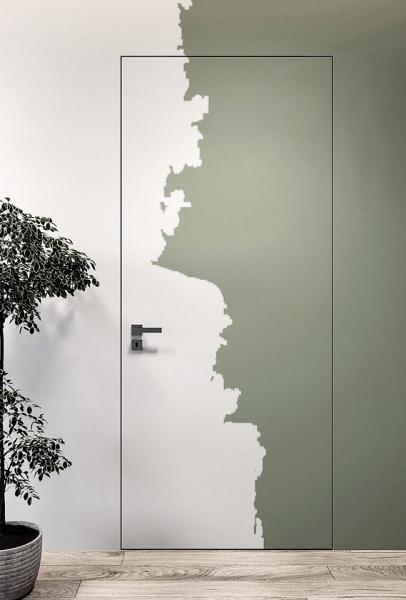 Скрытые двери в грунте под покраску двери скрытый монтаж WakeWood