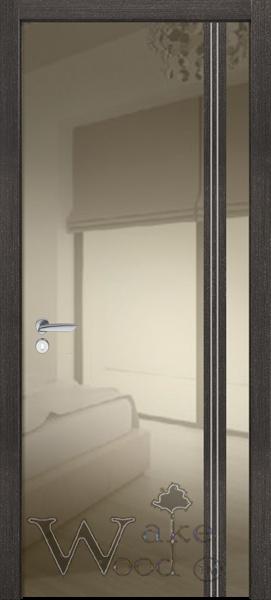 Крашеные межкомнатные двери Festa VIP 02 венге платина