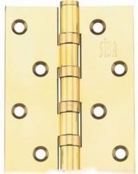 Фото  Siba Универсальная петля дверная 100 полированное золото