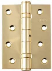 Фото  Siba Универсальная петля дверная усиленная 125 полированное золото