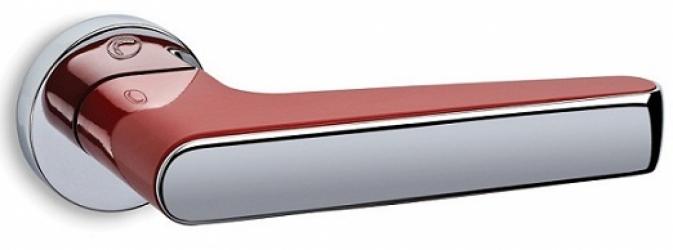 Фото Производитель Ручки CONVEX (Греция) Дверная ручка модели 2015 полированный хром/красный, нажимная