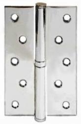 Фото   Разъемная петля дверная на межкомнатную дверь 125 полированный хром