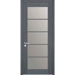 Фото  WakeWood Межкомнатная дверь Glass Wood 01 дуб серый