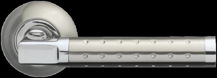 Фото Производитель Ручки ARMADILLO (Италия) Дверные ручки Eridan матовый никель/полированный хром