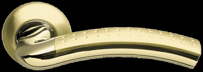 Фото  ARMADILLO (Италия) Ручка дверная Libra матовое золото/полированное золото