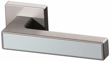 Фото  ARMADILLO (Италия) Дверная ручка Screen матовый никель/полированный хром