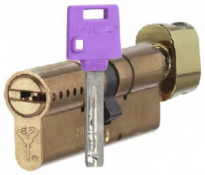 Фото Производитель Mul-T-Lock (Мультилок) Цилиндр Mul-T-Lock Classic Pro корпус матовый никель 27*27-Т