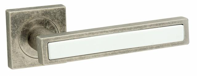 Фото  FIMET (Италия) Дверная ручка Square 211 античное железо/белая керамика