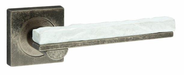 Фото Производитель Ручки FIMET (Италия) Дверная ручка Stone 211 античное железо/белый