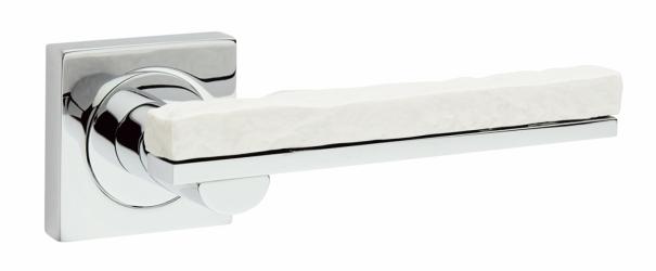 Фото Производитель Ручки FIMET (Италия) Дверная ручка Stone 211 полированный хром/белый