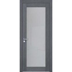 Фото  WakeWood Межкомнатная дверь Glass cleare 01 дуб серый