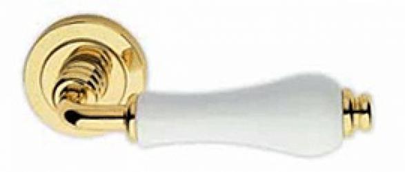Фото Производитель Ручки LINEA CALI (Италия) Ручки Dalia полированное золото/белый фарфор
