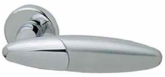 Фото Производитель Ручки MANDELLI (Италия) Ручка дверная Bip матовый хром/полированный хром