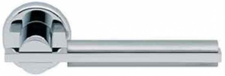 Фото Производитель Ручки MANDELLI (Италия) Ручка дверная Demi матовый хром/полированный хром