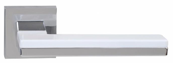Фото  RDA (Китай) Ручки дверные RDA модели Domino полированный хром/белый