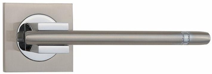 Фото Производитель Ручки SIBA (Турция) Ручки для дверей модели Kristal матовый никель/полированный хром