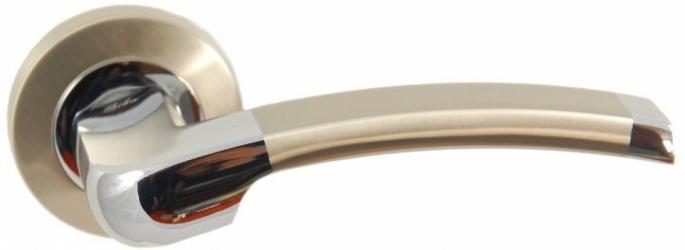 Фото Производитель Ручки SIBA (Турция) Ручки для дверей модели Rivoli матовый никель/полированный хром